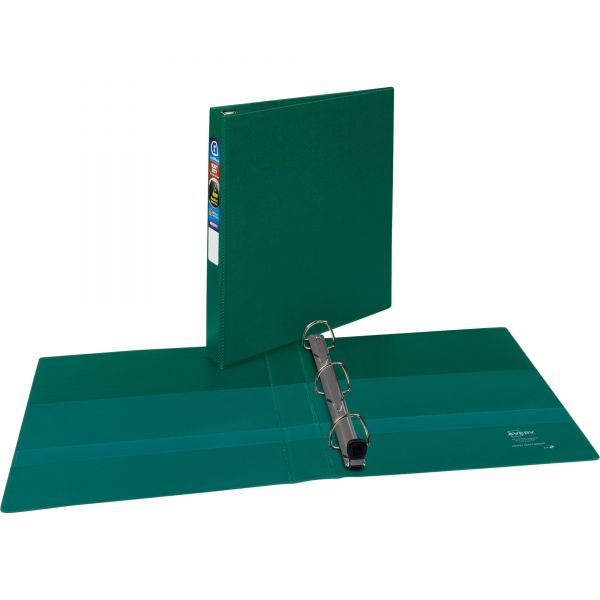 "Avery Heavy-Duty 3-Ring Binder with One Touch EZD Rings, 1"" Capacity, Green"