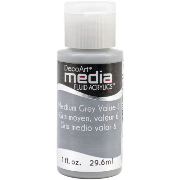 Deco Art Medium Grey Media Fluid Acrylic