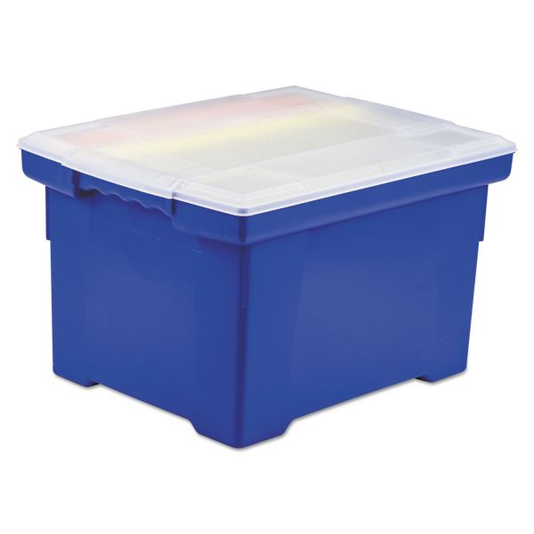 Storex Portable File Tote with Snap-On Lid