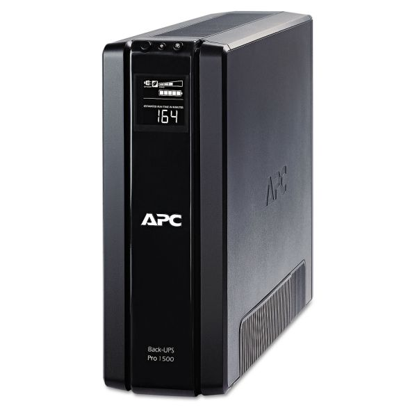 APC BR1500G Back-UPS Pro 1500 Battery Backup System, 10 Outlets, 1500 VA, 355 J