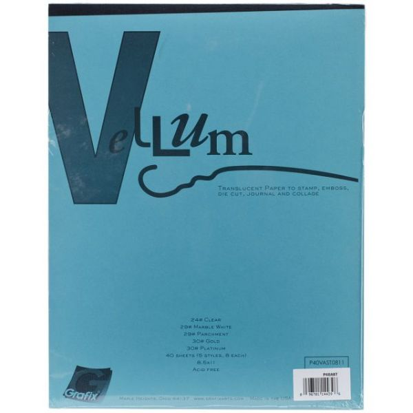 "Vellum Assortment 8.5""X11"" 40/Pkg"