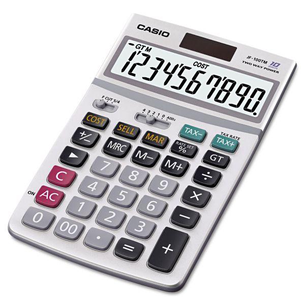 Casio JF-100MS Desktop Calculator with 10-Digit Display, 4-1/4w x 6-7/8d