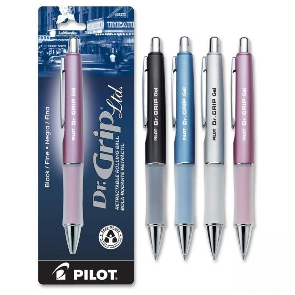 Pilot Dr. Grip Retractable Gel Rollerball Pens