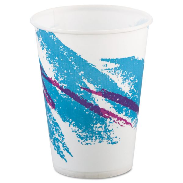 Dart Jazz Waxed Paper Cold Cups, 9oz, Tide Design, 100/Pack, 20 Packs/Carton