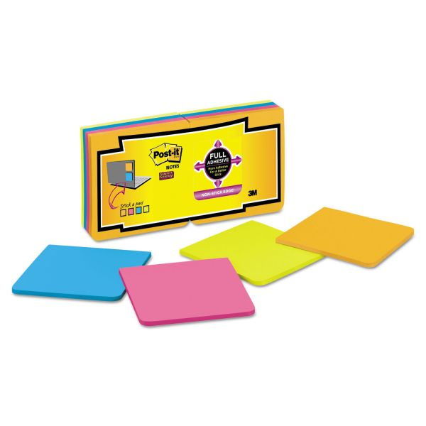 Post-it Notes Super Sticky Full Adhesive Notes, 3 x 3, Assorted Rio de Janeiro Colors, 16/Pack