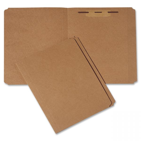 SKILCRAFT Medium Kraft Paperboard File Folders With Fasteners
