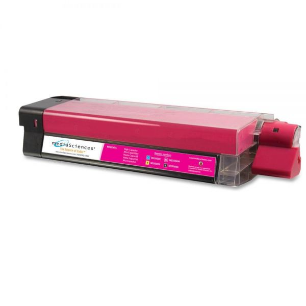 Media Sciences Remanufactured Oki 42127402 Magenta Toner Cartridge