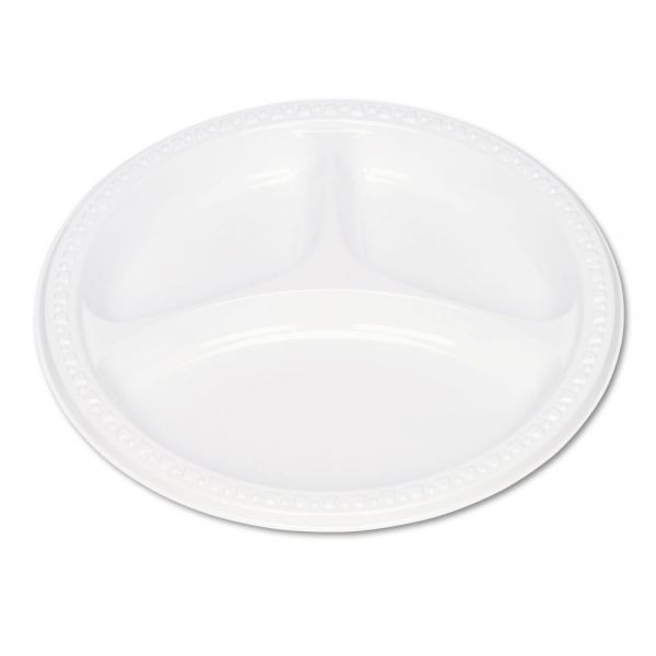 "Tablemate 9"" Plastic Compartment Plates"