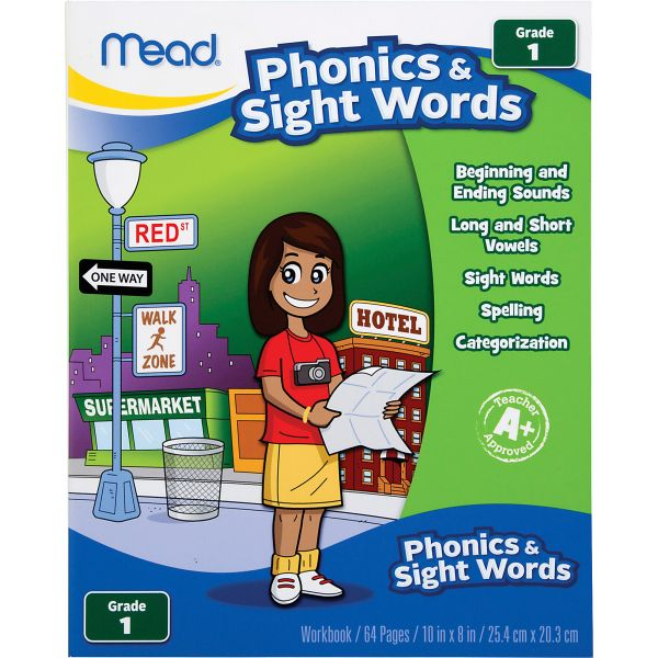 Mead Phonics/Sight Words Grade 1 Workbook Education Printed Book