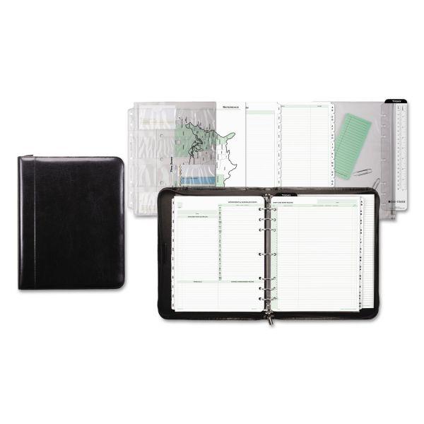 Day-Timer Aristo Bonded Leather Starter Set, 8 1/2 x 11, Black