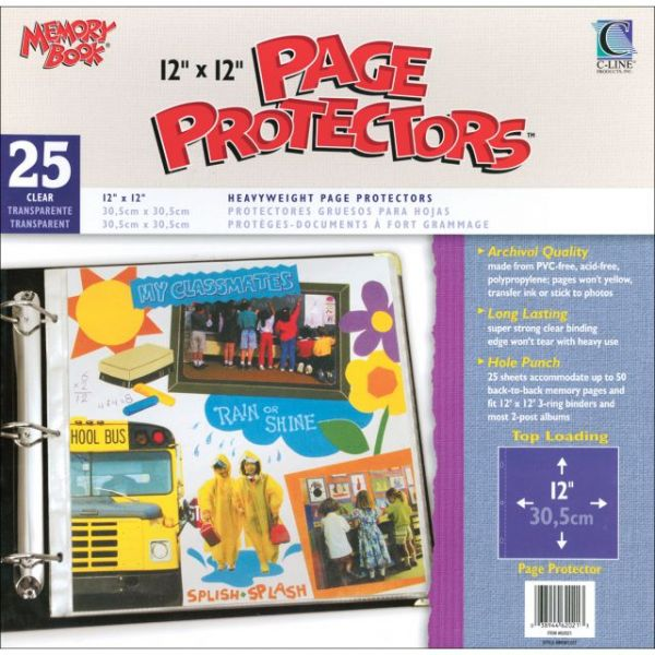 "Memory Book Top-Loading Page Protectors 12""X12"" 25/Pkg"