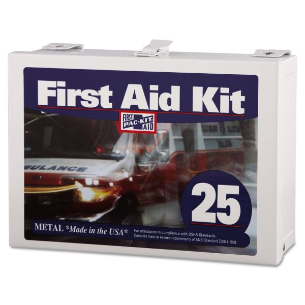 Pac-Kit First Aid Kit for Up to 25 People, 159-Pieces, Steel