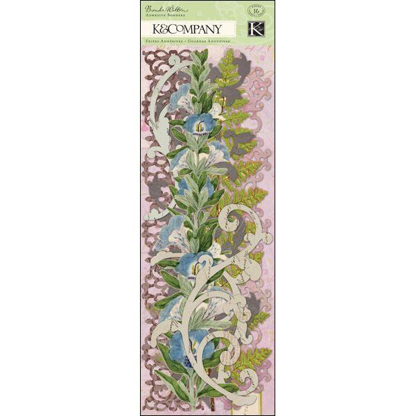 """Flora & Fauna Swirl Adhesive Borders 12"""""""