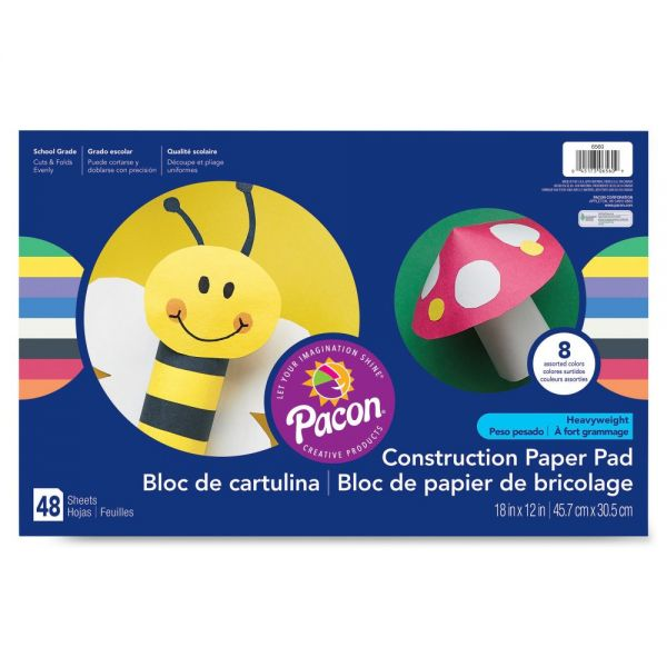 Pacon Heavyweight Construction Paper Pad