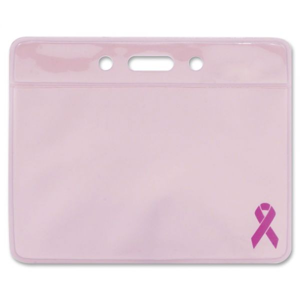 Advantus Breast Cancer Awareness Horizontal Badge Holders