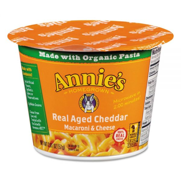 Annie's Homegrown Aged Cheddar Mac & Cheese Microwavable Cups