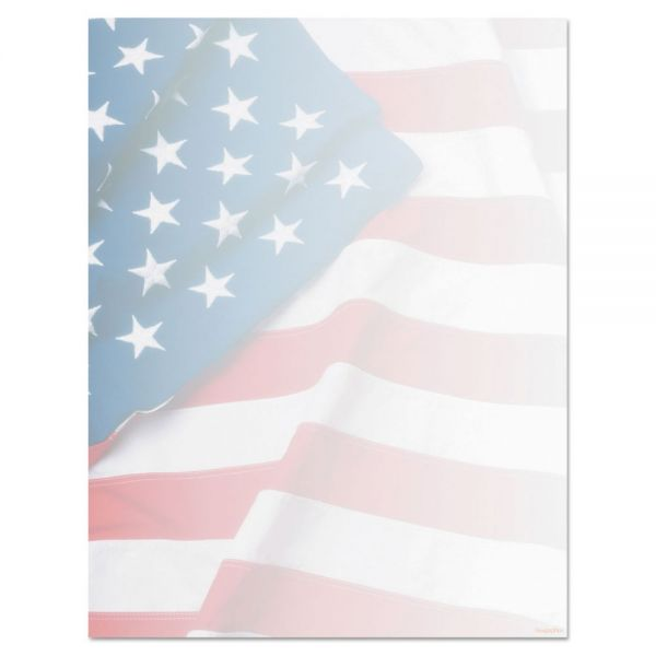 Geographics Design Suite Paper, 24 lbs., Flag, 8 1/2 x 11, Blue/Red/White, 100/Pack