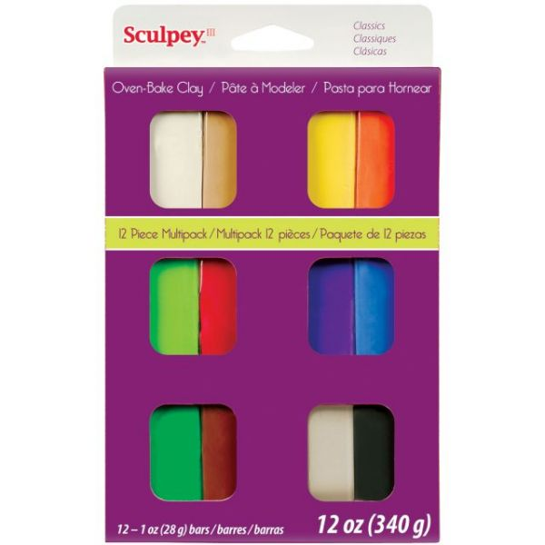 Sculpey III Classics Multi Packs