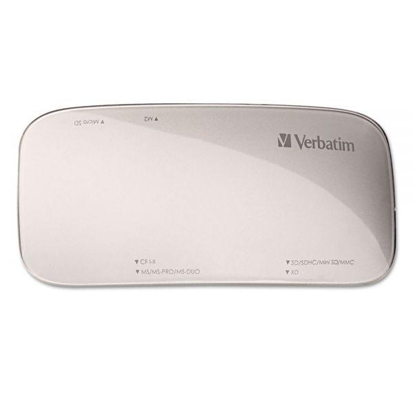 Verbatim Universal Card Reader, USB 3.0, Silver, Windows/Mac