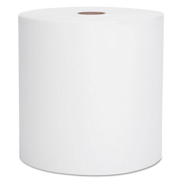 "Scott Hard Roll Towels, 1.75"" Core, 8 x 950ft, 1 3/4"" Core, White, 6 Rolls/Carton"