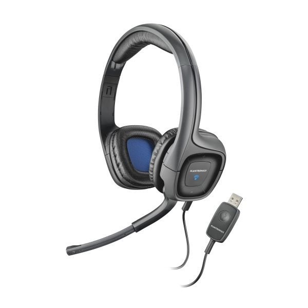 Plantronics Audio 655 USB Stereo Headset w/Noise Canceling Mic