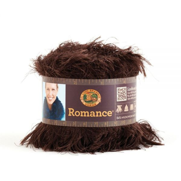 Lion Brand Romance Yarn - Truffle