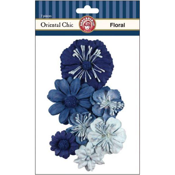 Oriental Chic Paper Florals 7/Pkg