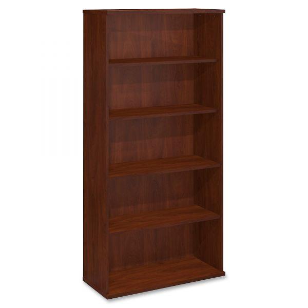 Bush Series C Collection 36W 5 Shelf Bookcase, Hansen Cherry