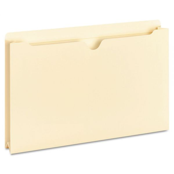 Universal Manila File Jackets with Reinforced Tabs, Two Inch Expansion, Legal, 50/Box