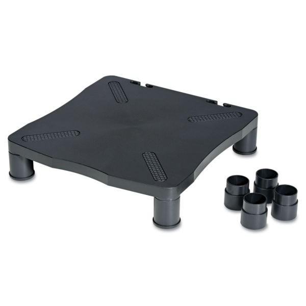 Kelly Computer Supply Adjustable Monitor Stand, 13-1/4 x 13-1/2 x 2 to 4, Black