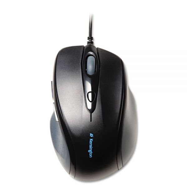 Kensington Pro Fit Wired Full-Size Mouse, USB, Right, Black