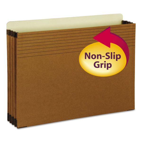 "Smead Easy Grip File Pocket, Legal, 3 1/2"" Exp., Redrope, 25/Box"