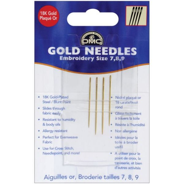 Gold Embroidery Hand Needles