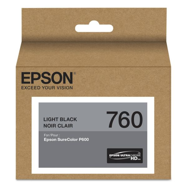 Epson 760 UltraChrome Light Black HD Ink Cartridge (T760720)