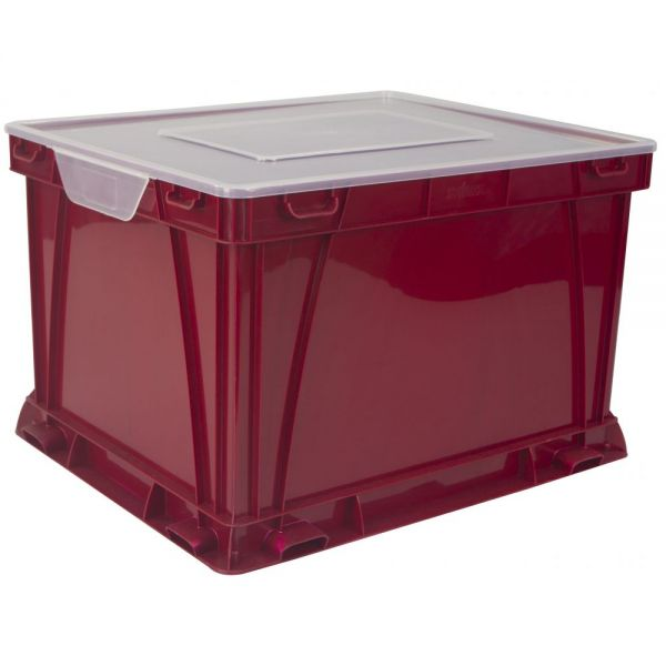 Storex Storage and Filing Cube, School Red (Case of 3)