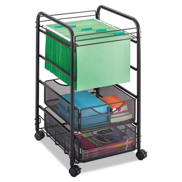 Safco Onyx Mesh Open Mobile File Cart