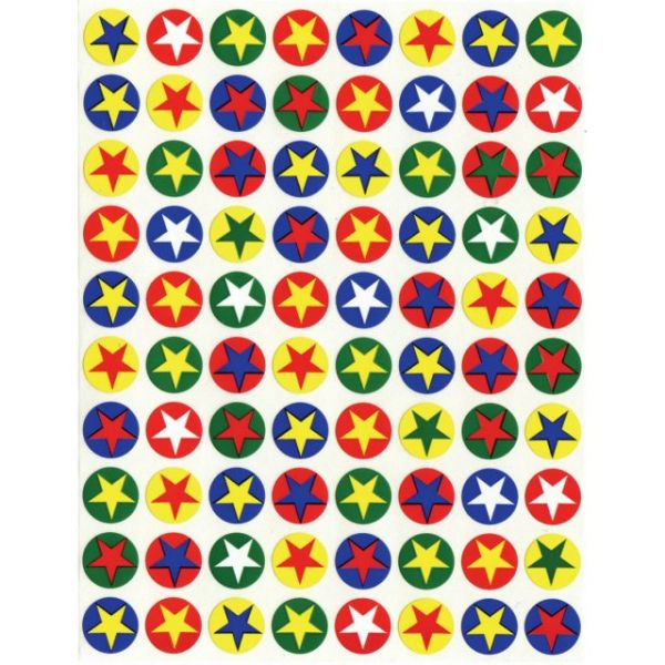Stars In Circles Sticker Forms