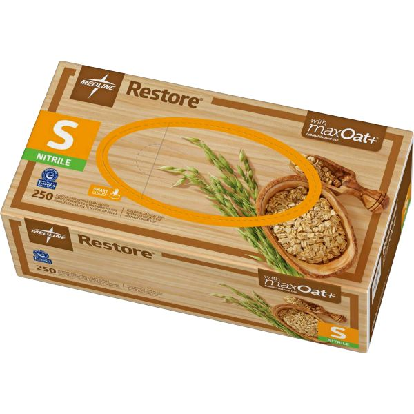 Medline Restore Nitrile Exam Gloves w/Oatmeal