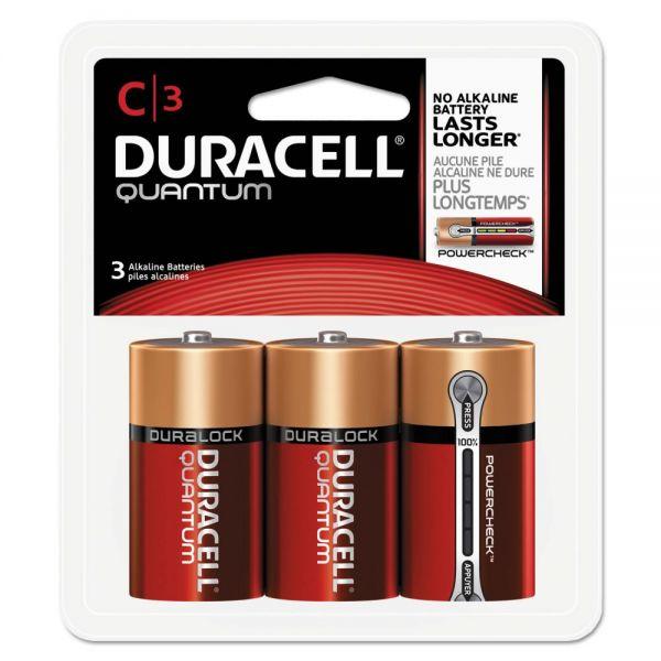 Duracell Quantum Alkaline Batteries, C, 3/PK