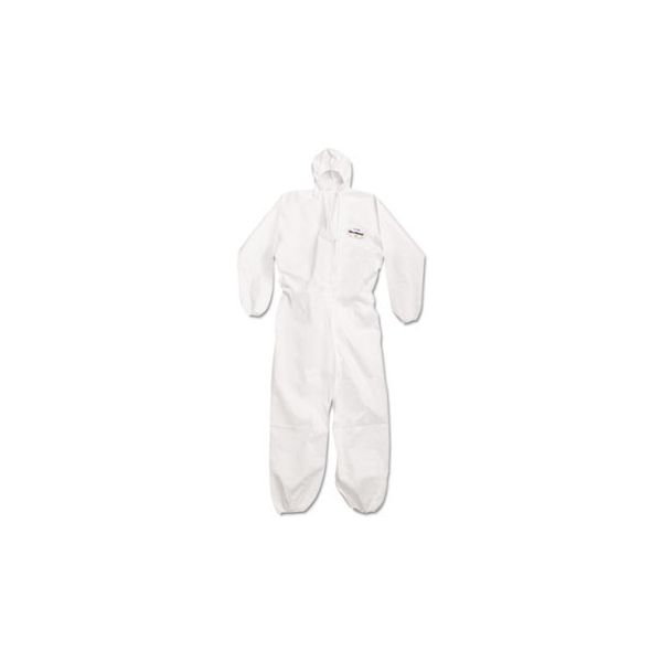 KleenGuard* A20 Breathable Particle Protection Coveralls, Large, White, Zipper Front