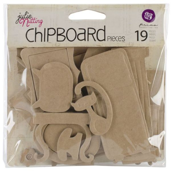 Julie Nutting Mixed Media Chipboard Shapes 19/Pkg