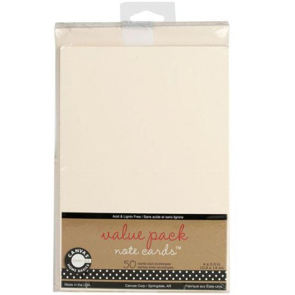 "Value Pack Cards & Envelopes 4""X5.5"" 50/Pkg"