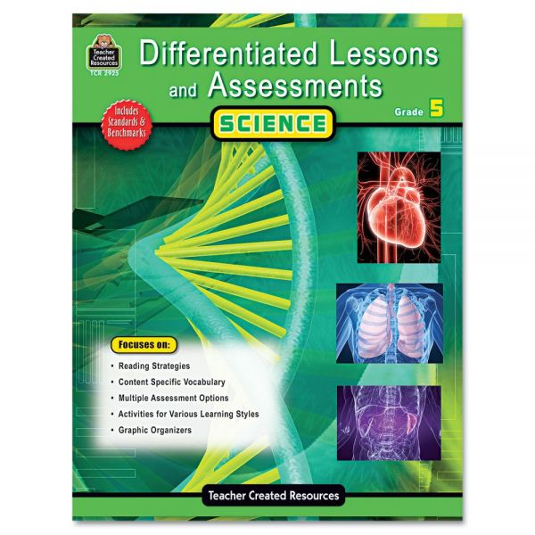 Teacher Created Resources Differentiated Lessons and Assessments, Science, Grade 5, 224 Pages