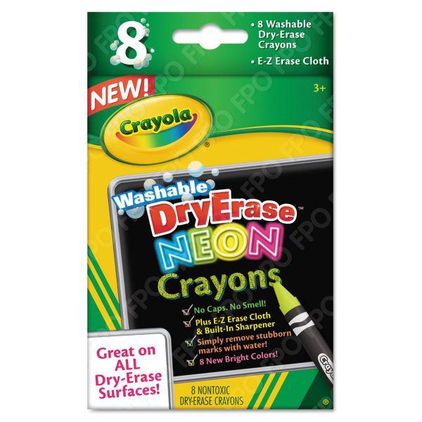 Crayola Washable Dry Erase Crayons w/E-Z Erase Cloth