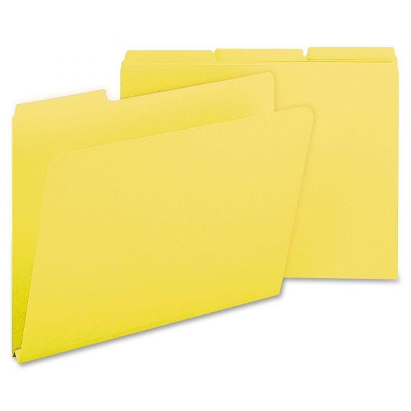 Smead Yellow Colored Pressboard File Folders