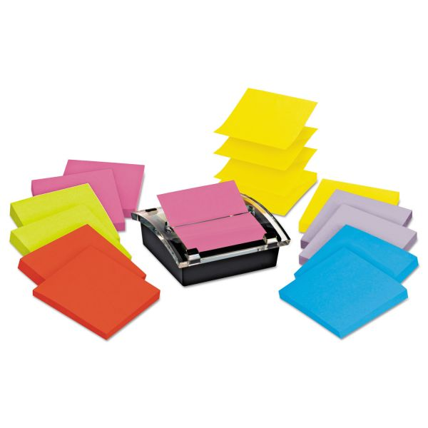 """Post-it Super Sticky Pop-up Notes Dispenser, 3""""x 3"""", Marrakesh and Rio de Janeiro Collections"""