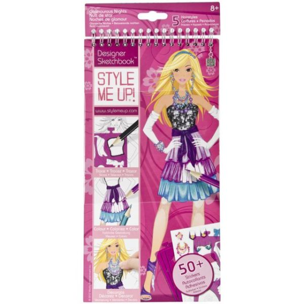 Style Me Up! Glamorous Nights Fashion Sketchbook Kit