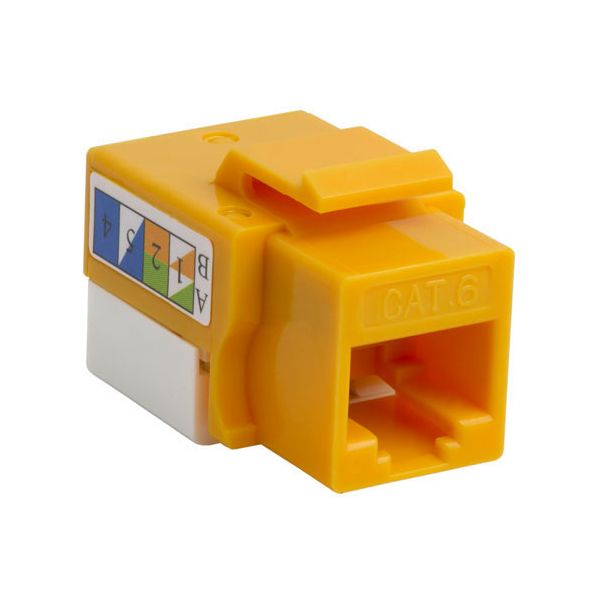 4XEM Cat6 RJ45 Keystone Jack UTP 110-Type (Yellow)