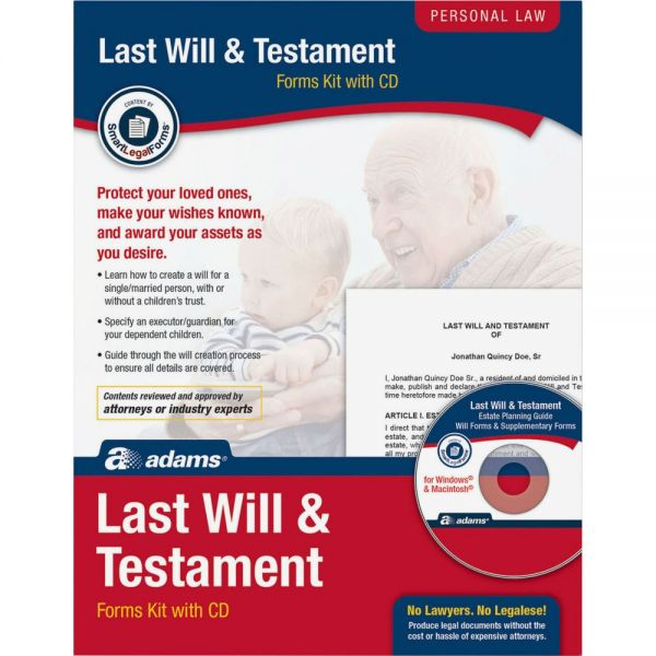 Adams Last Will/Testament Kit