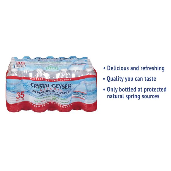 Crystal Geyser Alpine Spring Bottled Water